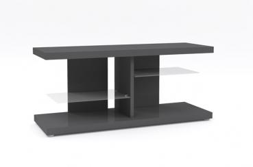 Elegance Mediabank + Glasböden Wohnwand Lowboard TV Board Anthrazit NEU!
